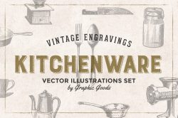 Kitchen Tools Engravings Set