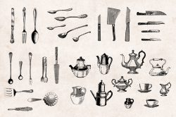 Kitchenware – Vintage Engraving Illustrations 02