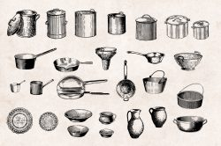 Kitchenware – Vintage Engraving Illustrations 03