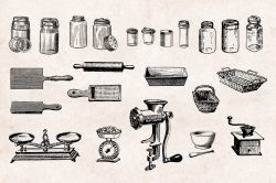 Kitchenware – Vintage Engraving Illustrations 04