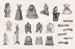 Ladies' Fashion – Vintage Engraving Illustrations 03