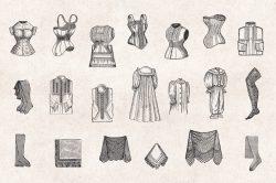 Ladies' Fashion – Vintage Engraving Illustrations 04