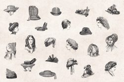 Ladies' Fashion – Vintage Engraving Illustrations 05