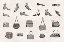 Ladies' Fashion – Vintage Engraving Illustrations 06