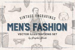 Men's Fashion – Vintage Engraving Illustrations 01