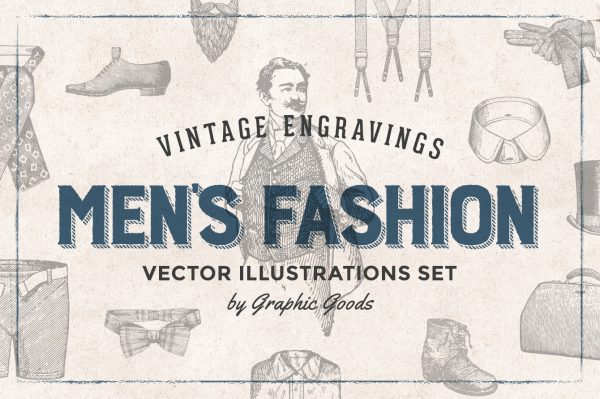 Men's Fashion – Vintage Engraving Illustrations 01