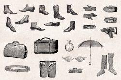 Men's Fashion – Vintage Engraving Illustrations 04