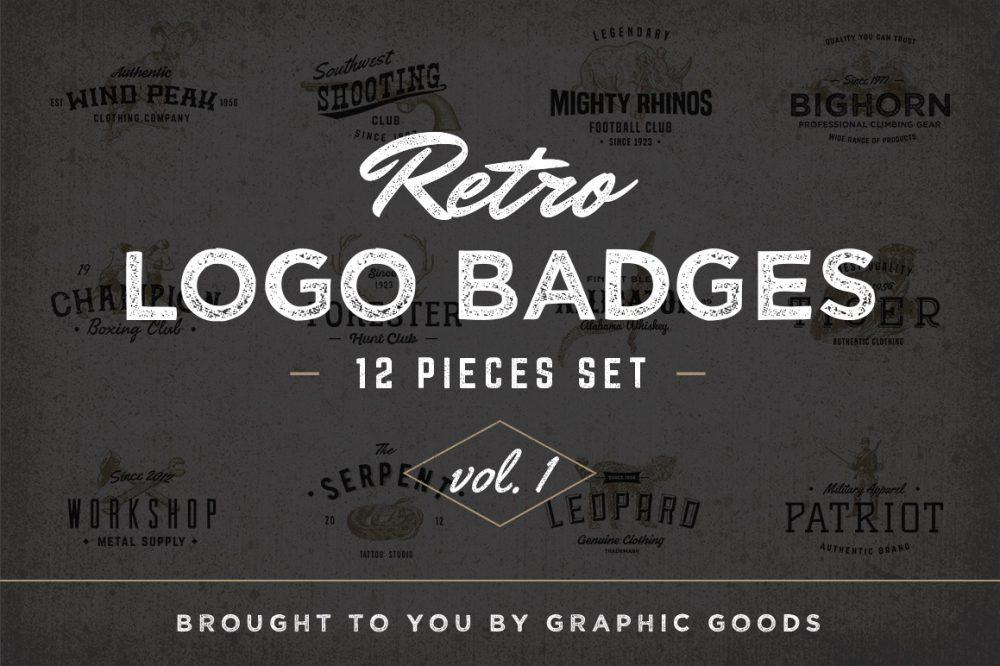 Retro Logo Badges vol I 01