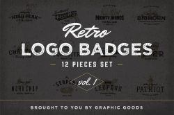 Retro Logo Badges vol.1