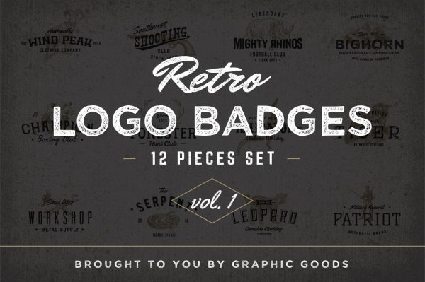 Retro Logo Badges vol I 01