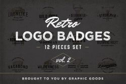 Retro Logo Badges vol.2