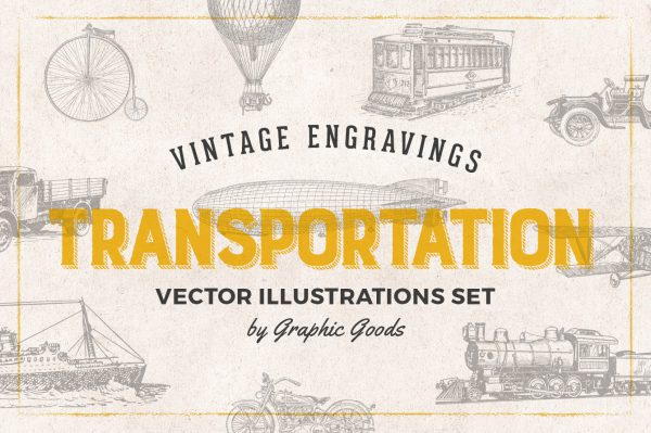 Transportation – Vintage Engraving Illustrations 01