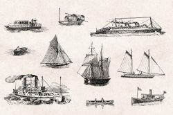 Transportation – Vintage Engraving Illustrations 05