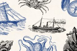 Vintage Nautical Illustrations 02