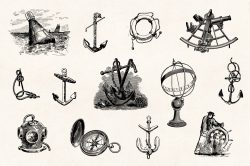 Vintage Nautical Illustrations 03