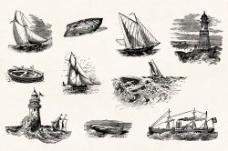Vintage Nautical Illustrations 04
