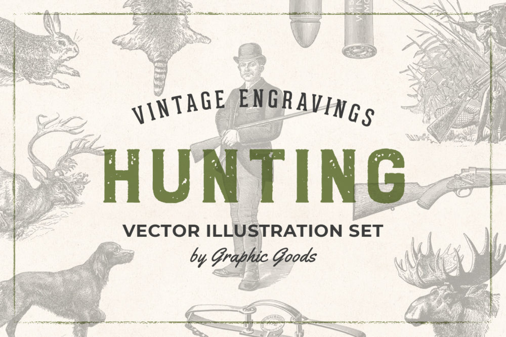 Hunting – Vintage Engraving Illustrations by Graphic Goods 01