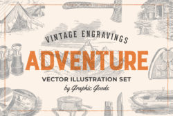 Adventure – Vintage Illustration Set