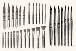 Art Supplies Vintage Illustrations 02
