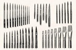 Art Supplies Vintage Illustrations 03