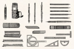 Art Supplies Vintage Illustrations 07