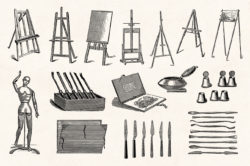 Art Supplies Vintage Illustrations 08