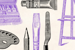 Art Supplies Vintage Illustrations 09