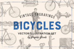Bicycles – Vintage Illustration Set by Graphic Goods 01