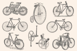 Bicycles – Vintage Illustration Set by Graphic Goods 05