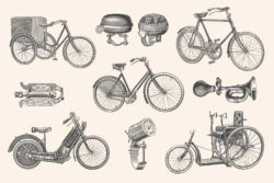 Bicycles – Vintage Illustration Set by Graphic Goods 07