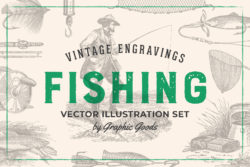 Fishing – Vintage Illustration Set by Graphic Goods 01