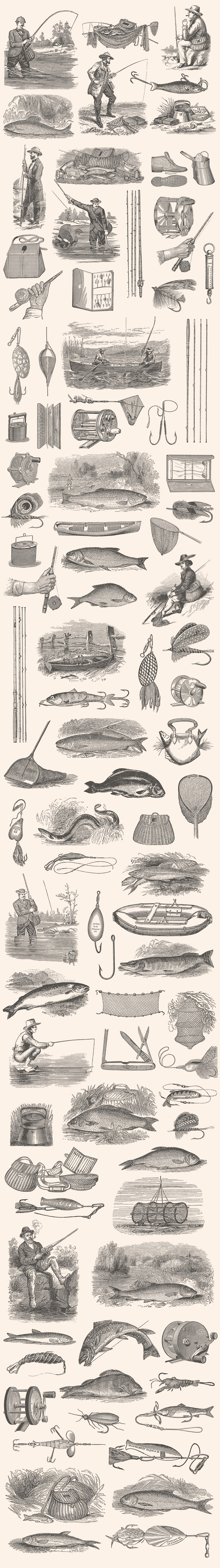 Fishing – Vintage Illustration Set by Graphic Goods 05_2