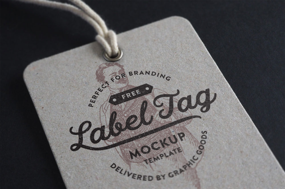 Free Label Tag Mockup by GraphicGoods