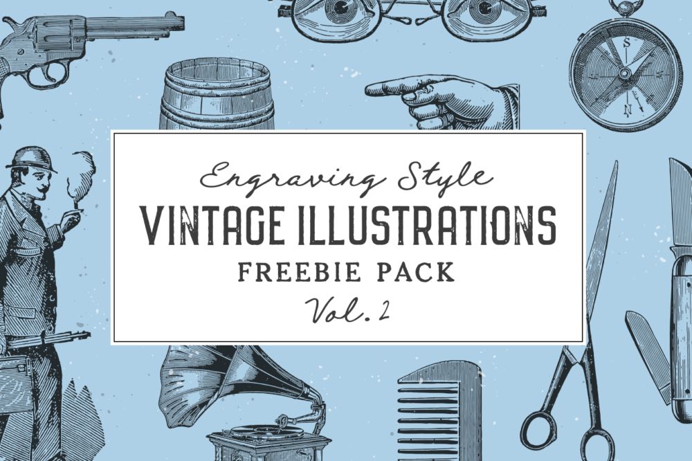 Free Vintage Illustrations by Graphic Goods Vol 2 – preview01