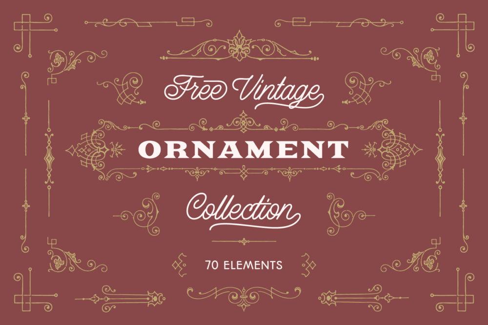 Free Vintage Ornaments 001