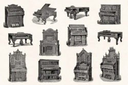 Musical Instruments Engravings Set 02