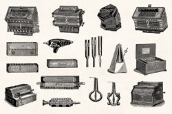 Musical Instruments Engravings Set 06