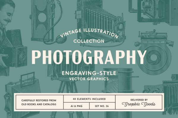 Photography Vintage Illustration Set 001