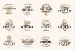 Vintage Christmas Logo Badges 02
