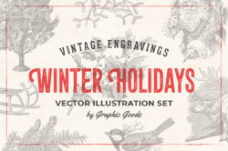 Winter Holidays – Vintage Engraving Illustrations