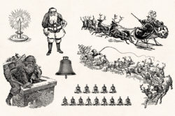 Winter Holidays – Vintage Engraving Illustration Set by Graphic Goods 02
