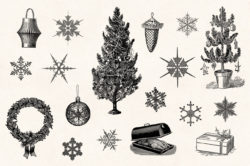Winter Holidays – Vintage Engraving Illustration Set by Graphic Goods 06