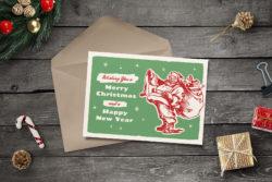 Free Retro Christmas Card