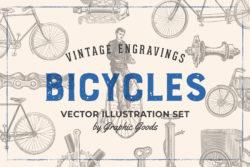 Bicycles – Vintage Illustrations Set