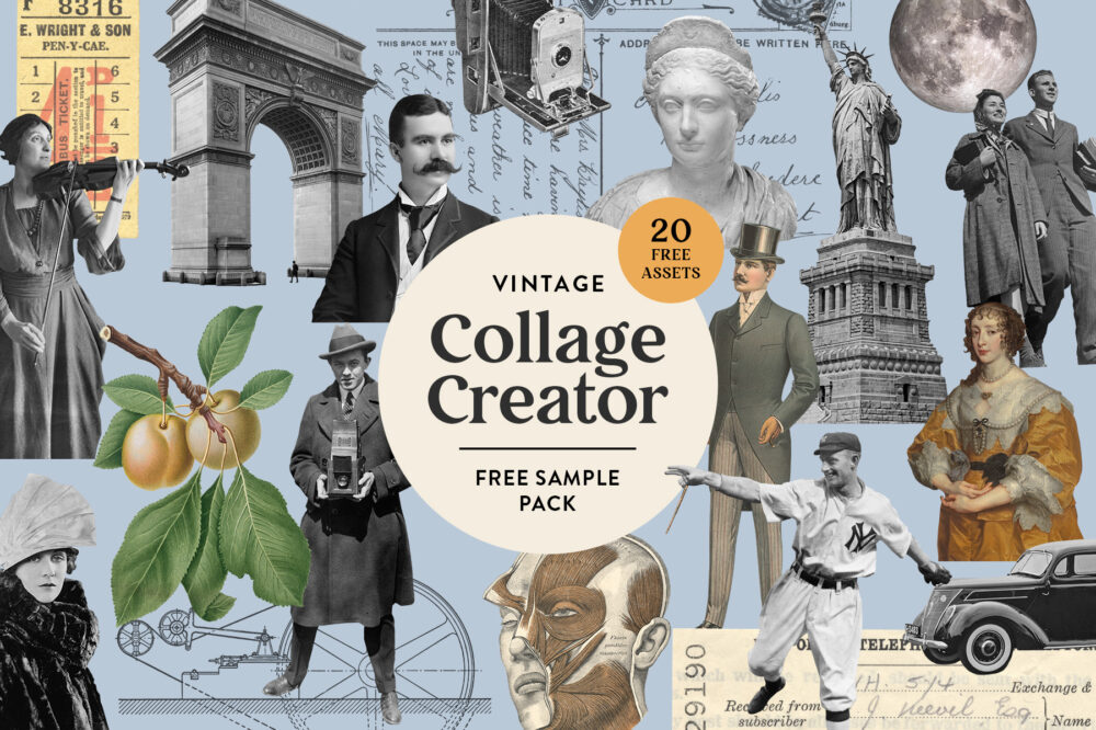 Vintage Collage Creator Free Sampler